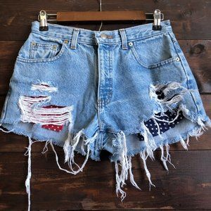 Vintage Handcrafted High Rise Festival Shorts